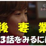 今期一番おもしろい!!ドラマ『後妻業』第3話見逃し無料動画配信は?